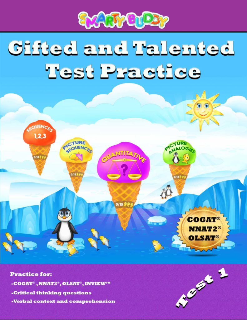 Book Cover: Smarty Buddy Gifted and Talented Practice