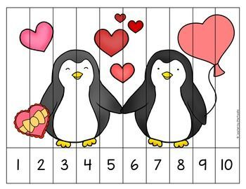 Valentine's Day Penguins Puzzle
