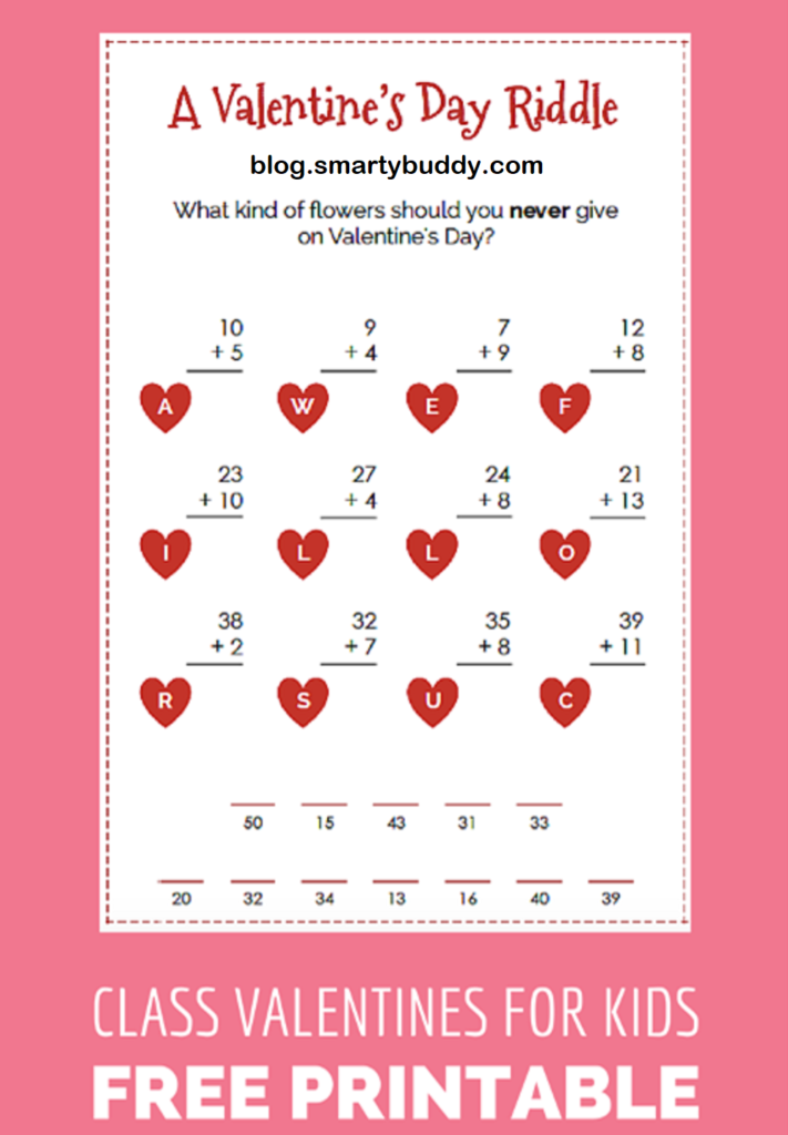 Valentine's Day Riddle from Smarty Buddy